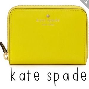 kate spade Clutches & Wallets - 🎉PM Editor Pick🎉Kate Spade Neon Yellow Wallet