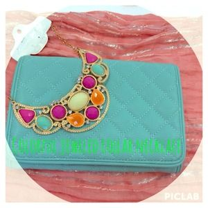 Colorful jeweled collar necklace!