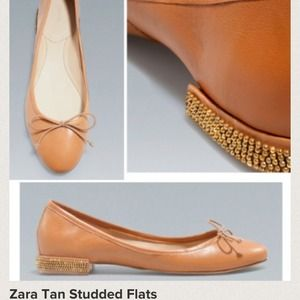 Zara 50$  studded heel flats new with tag