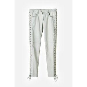 Isabel Marant Pants - Isabel Marant pour H&M white leather pants sz8 NEW