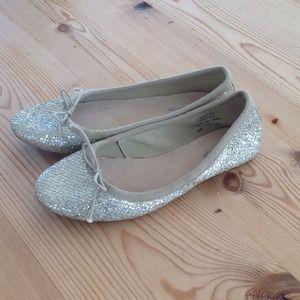 TopShop Ballet pumps. Glittery Euro 39 US 9