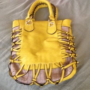 Mustard yellow dump bag