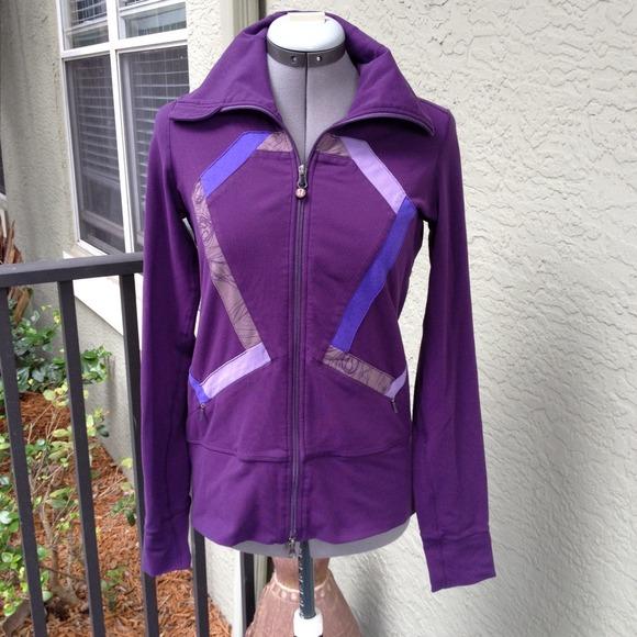 Lululemon Origami High Collar Purple Jacket