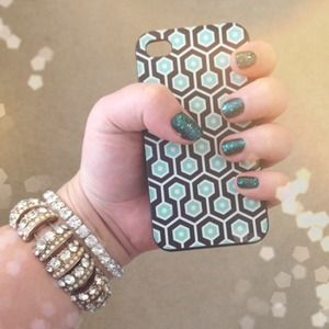 Triple C Designs Accessories - Mint & Black Geometric iPhone 4 Case