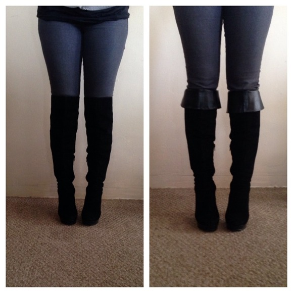 ca1ad3a84b0 Forever 21 Boots - Versatile black suede knee high boots!