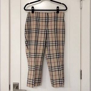 Burberry Pants - Burberry nova check capris