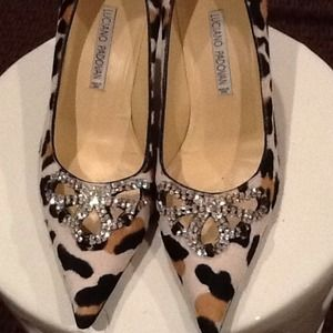 Luciano Padovan Shoes - Stunning Luciano Padovan leopard and rhinestone 56d2aafc29d