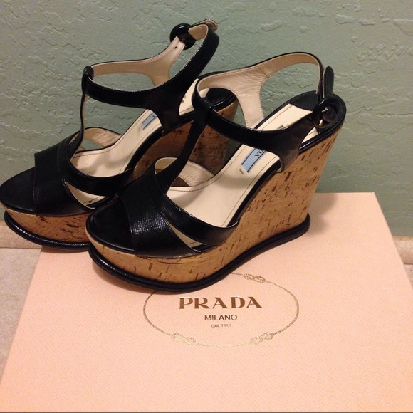 Prada Shoes - PRADA Calzature Donna Cork Wedge 2