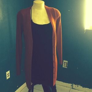 Red Knit fall sweater
