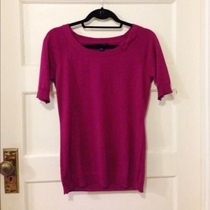 Banana Republic Tops - Rich magenta colored sweater with a cute bow!