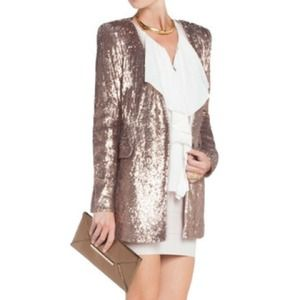 BCBG MaxAzria Haden sequined jacket in bare pink