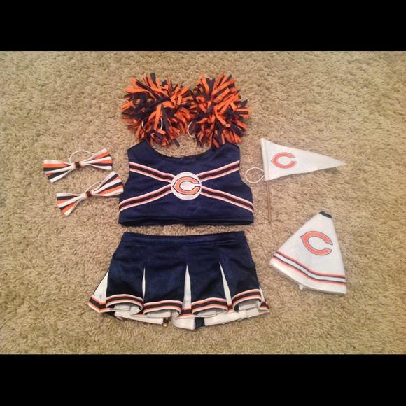 brand new 540de 22ff1 Build A Bear Chicago Bears Cheerleader outfit
