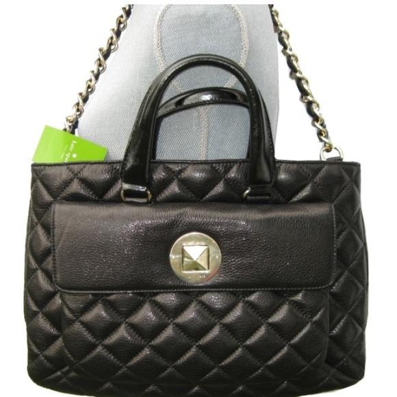 68% off kate spade Handbags - SOLD!!! Kate Spade Black Quilted ... : black quilted handbag - Adamdwight.com