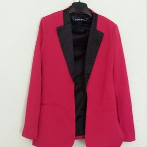Zara Jackets & Blazers - Zara Hot Pink Blazer Size Medium
