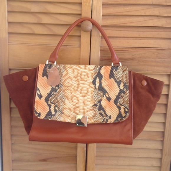 94% off Handbags - Celine inspired trapeze brown bag\u0026lt;\u0026lt;\u0026lt;SOLD ...