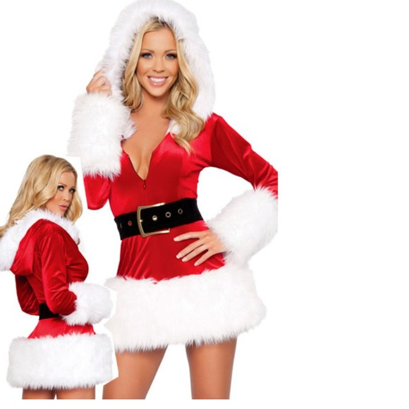 1afed106acc Sexy Santa Baby Hooded Christmas Dress