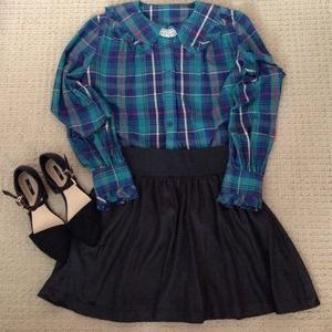 Vintage plaid long sleeves.