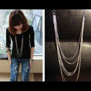 Last OneSilver color cute necklace