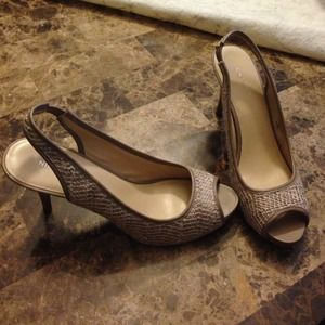 Nine West pep toe heels -9 1/2
