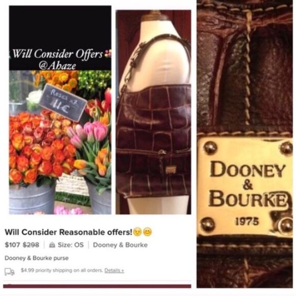 Dooney & Bourke Handbags - Dooney & Bourke brown Leather bag