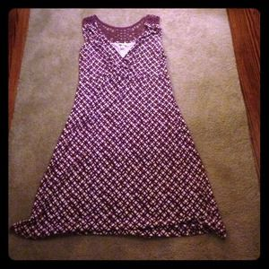 Purple Cotton Dress - Sz L - Merona