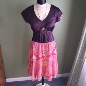 Coral and Pink Tribal Flowy Skirt