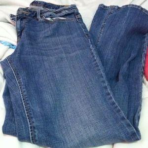 Light blue jeans.