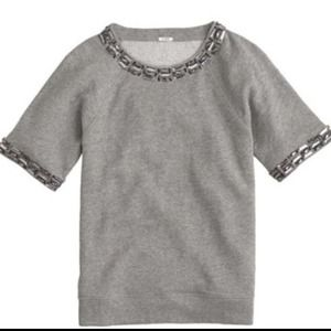 J. Crew Jeweled Sweatshirt
