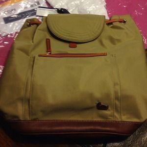 Dooney & Bourke khaki backpack