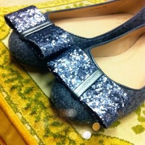 kate spade Shoes - Authentic Kate Spade Glitter and Wool Flats!