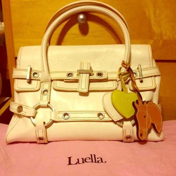 c5b042526cc3 Cream Luella Baby Gisele Pony bag