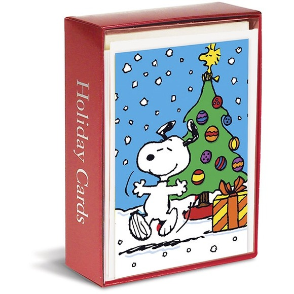 peanuts holiday greeting cards snoopy dancing