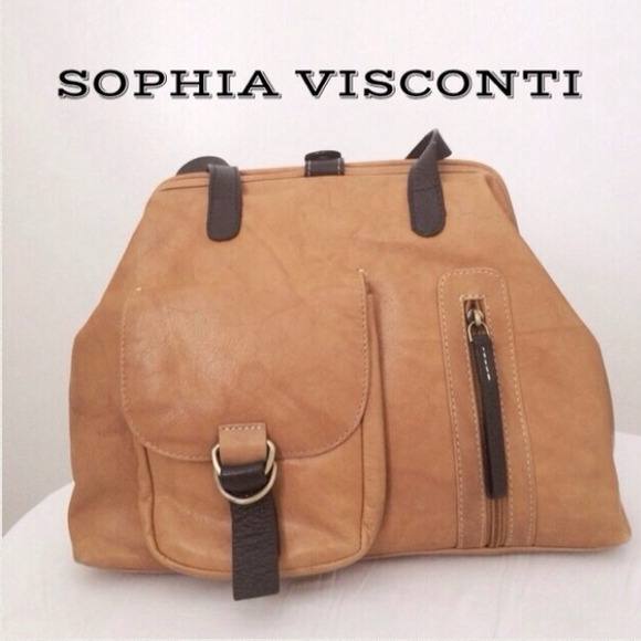 Sophia Visconti Bags Vintage Genuine Leather Handbag
