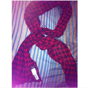 J crew red and black checkered scarf