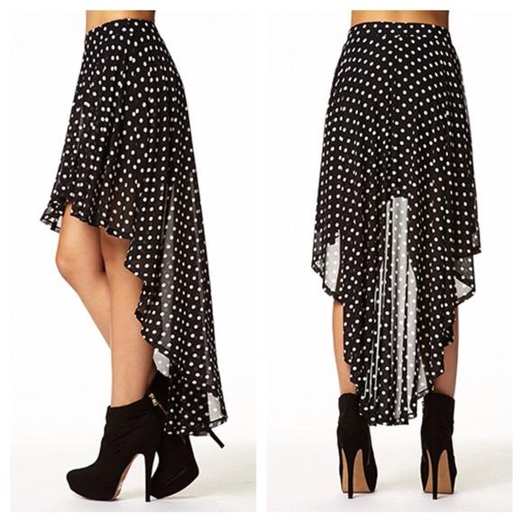 5cbffb06e Forever 21 Skirts | Polka Dot High Low Skirt | Poshmark