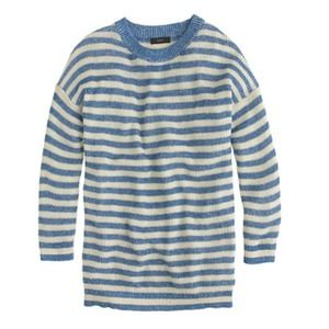 J.crew heather stripe sweater in blue
