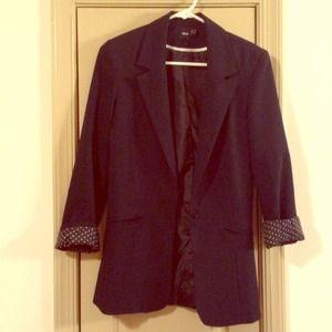 Asos fitted navy boyfriend blazer. Size 2.