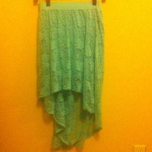 Blue Forever 21 Hi-Low Skirt
