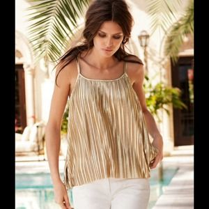 H&M Tops - H&M Gold Pleated Top