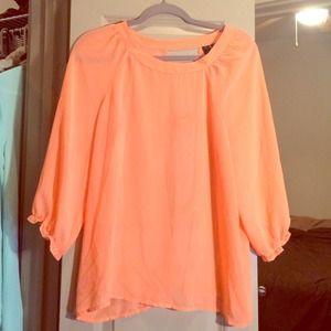 Tops - Neon coral open back top. Never worn.