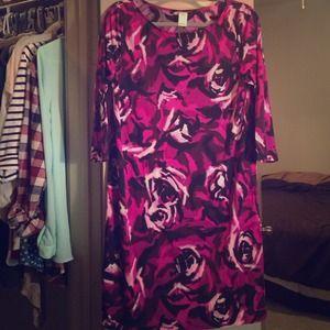 Dresses & Skirts - Floral purple work dress