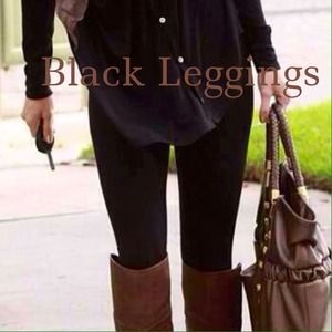 Black Leggings-Trendy!