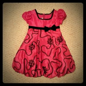 Almost New Beautiful Pink and Black Holiday Dress