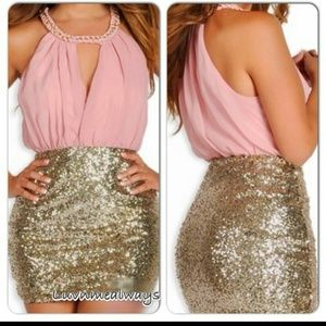 62% off Dresses & Skirts - ⚡ ⚡️Gold Sequin Roaring 20s Party ...