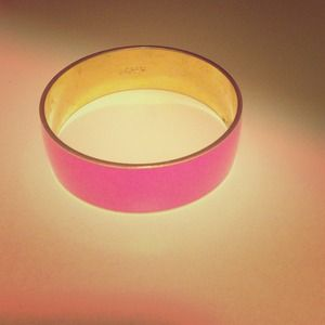 Jcrew neon pink gold plated bracelet