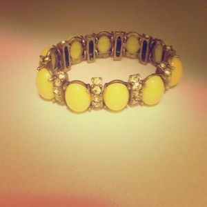 Jcrew neon yellow bracelet