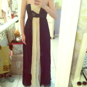 BCBG Black and Creme Gown Sz 2