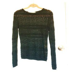 Zara green knit long sleeved shirt