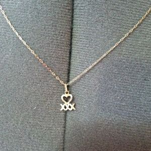 14k Heart Necklace Charm