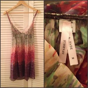 Urban Outfitters Dresses & Skirts - Urban Outfitters Sparkle & Fade Silk Chiffon Dress